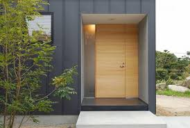 photos of front doors for homes | Chikuzen House exterior front door -  Architecture of Modern