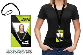 Event Badge Template Conference Vip Pass Id Template Digital316 Net