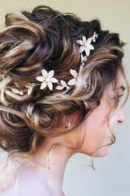 curly wedding hairstyles from playful