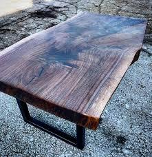 Black Walnut Coffee Table Chunky Live Edge Walnut Slab Coffee Table By Barnboardstorecom