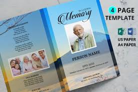 Mountain Funeral Program Template Ms Word And Publisher