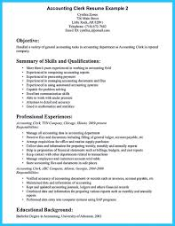 Accounting Resume Objectives Entry Level Down Town Ken More