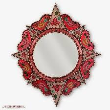 decorative round mirror 25 6 peruvian