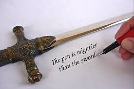 "the pen is mightier than the sword"" says minister of education  the pen is mightier than the sword"