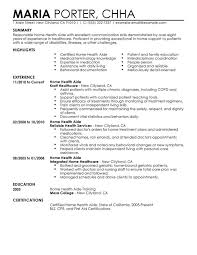 Health Care Aide Resume Objective Home Health Aide Resume Examples Free to Try Today MyPerfectResume 2