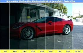 Window Tint Shades Car Chart Different Of For Your