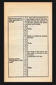 Ben Franklin S Virtue Chart Writing And Happiness Prolifiko