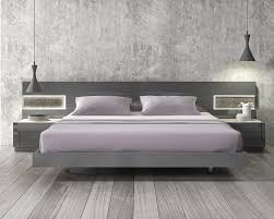 Las Vegas Bedroom Furniture Lacquered Stylish Wood Elite Platform Bed With Long Panels Las