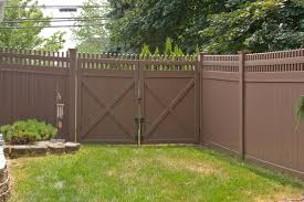 brown vinyl fencing. Simple Fencing VWG 3700 Classic Victorian Picket Straight Top Vinyl Fence Gates Set As A  Double Drive In For Brown Vinyl Fencing I