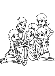 Small Picture Polly Pocket Surronded by Her Best Friends Coloring Pages Polly