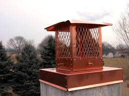 copper chimney crown cover with copper chimney cap