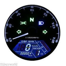 atv speedometer 52mm lcd digital speedometer alarm tachometer odometer for motorcycle boat atv