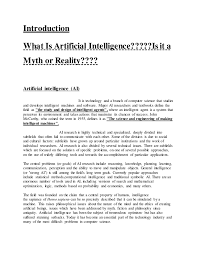 artificial intelligence 4 introduction what is artificial intelligence