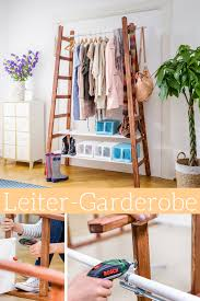 Upcycling Leiter Garderobe In 2019 Diy Möbel Garderobe