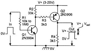 bipolar transistor cookbook part 3 nuts volts magazine alternative non inverting digital amplifier switch using an npn pnp pair of transistors