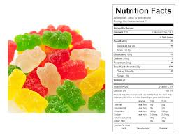 sour gummy bears bulk candy nutritional facts