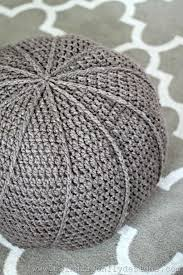 How To Make A Crochet Pouf Ottoman