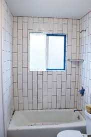 diy grout shower tub surround tape