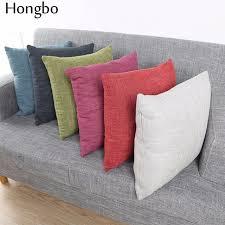 soft throw pillows.  Throw Hongbo 1 Pcs Sofa Cushion Covers Solid Color Linen Throw Pillows Cases  45X45cm Soft Decorative Inside