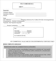 Standard Invoices Template 15 Proforma Invoice Templates Download Free Documents In Word