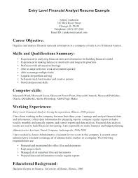 Resume Examples For Financial Analyst Work Experience Example Resume