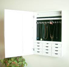 proman s bellissimo venice wall mount jewelry armoire in white