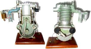 part 6 dfw elite toy museum a press steel and cast iron model of a single cylinder cutaway motor that demonstrates carboration as well as flywheel and piston operation