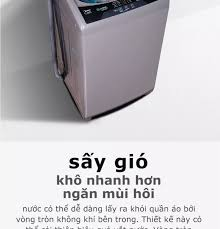 Máy giặt lồng đứng MIdea MAS9501 9.5kg (Trắng/Xám Bạc) - Thiết kế cao cấp -  Sấy