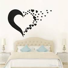 3d mirror wall sticker love heart set acrylic mural decal removable stickers living room decoration wall decal art home decor