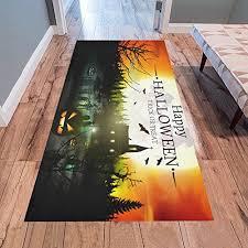interestprint happy trick or treat rug carpet 7 x 3 3