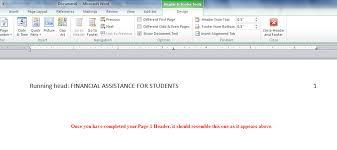 Apa Running Header Ms Word 2010 Apa Style Guide
