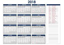 excel 2018 yearly calendar 2018 excel calendar template download free printable excel templates