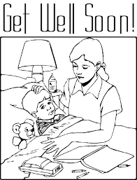 Small Picture Get Well Soon Coloring Page for Kids Free Printable Picture