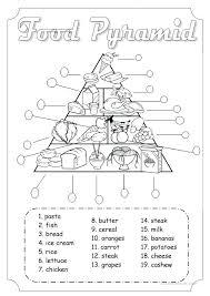 Free Printable Food Pyramid Worksheets Free Printable Food