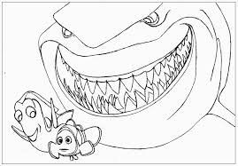 Finding Nemo Coloring Pages For Finding Nemo Characters Coloring