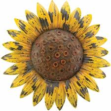 rustic sunflower wall decor
