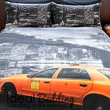 home new york ny montage taxi yellow cab duvet quilt bedding cover and pillowcase bedding set previous next