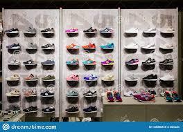 Footwear Shop Design Madrid Spain September 9 2018 New Balance Athletic Shoes