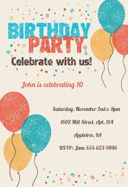 Birthday Invitation Party Kids Birthday Invitation Templates Free Greetings Island