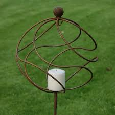 garden candle holder rustic tangle