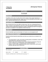 Job Description Free Word Template Microsoft Word Templates Mesmerizing Job Description Template Word