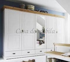 Massivholz Schlafzimmer Set Komplett 180x200 Kiefer Massiv Weiß