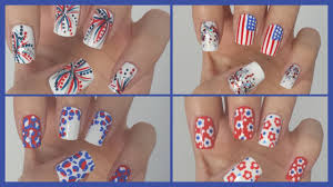 Fourth of July Nails!!! ☆ Four Easy Designs! | JennyClaireFox ...