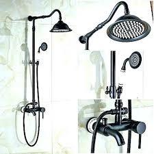 oil rubbed bronze shower faucet set 8 rain head hand spray mixer