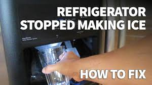 Kenmore Ice Maker Not Getting Water Refrigerator Ice Maker Not Making Ice Easy Fix Zero Cost Youtube