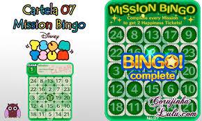 tsum tsum mission bingo missão card 7 a corujinhalulu
