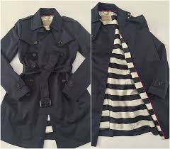 banana republic classic navy trench sp