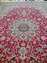 large persian tabriz area rug with red blue and cream rockwell for designs 13