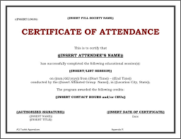 Free Printable Perfect Attendance Certificate Template Delectable Attendance Certificate Template Free Colbroco