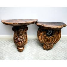 wall sconces shelves wall sconce pair wood carved gold gilt semi